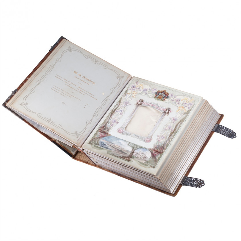 Photoalbum with silver decoration