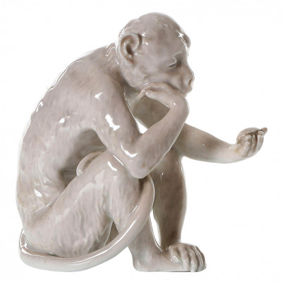 "Porcelain figure ""Monkey looks at the turtle"""