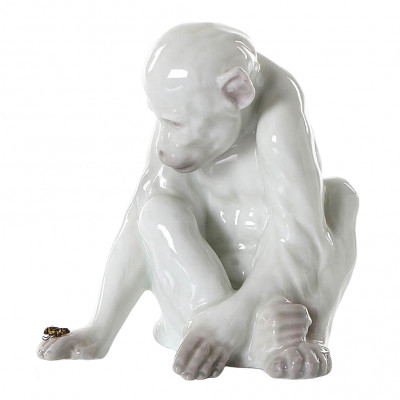 "Porcelain figure ""Monkey with a fly"""