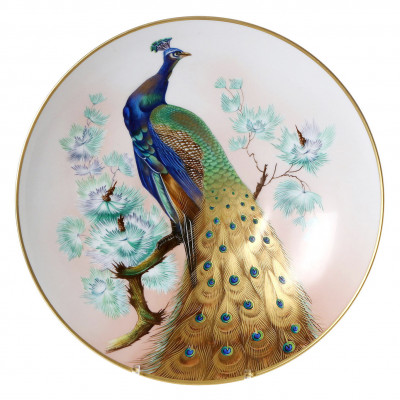 "Porcelain decorative plate ""Peacock"""