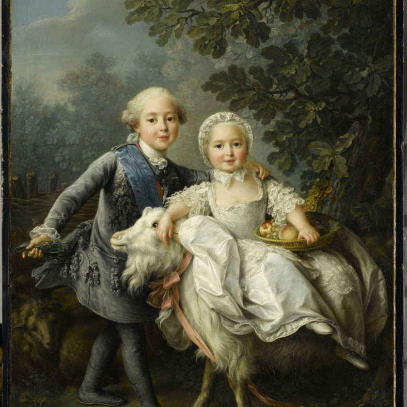 "Porcelain figure ""Count d'Artois and his sister, Madame Clotilde"""