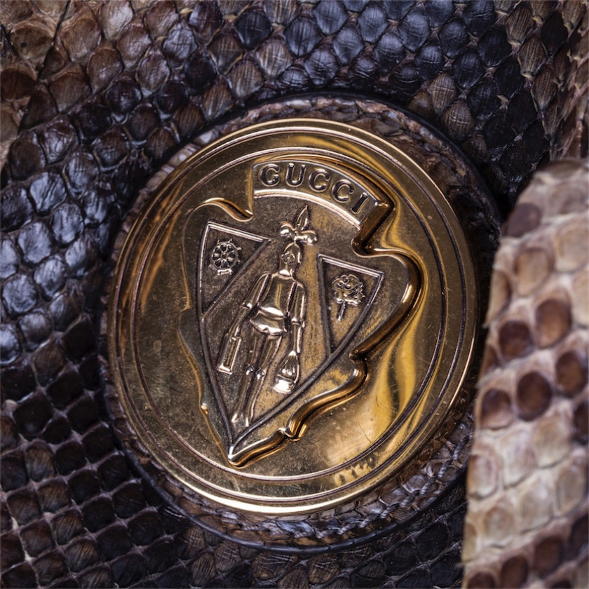 """Gucci ladies bag from a python skin """"Hysteria"""""""