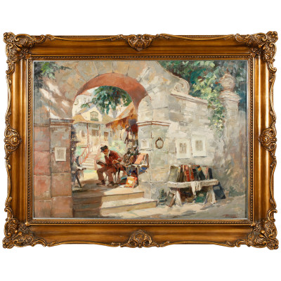 """Painting """"Seller of antiques"""""""