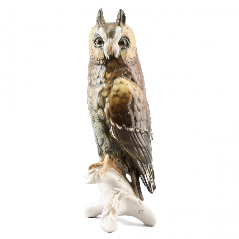 "Porcelain figure ""Eagle owl"""