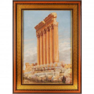 """Painting """"Temple of Jupiter in Baalbek"""""""
