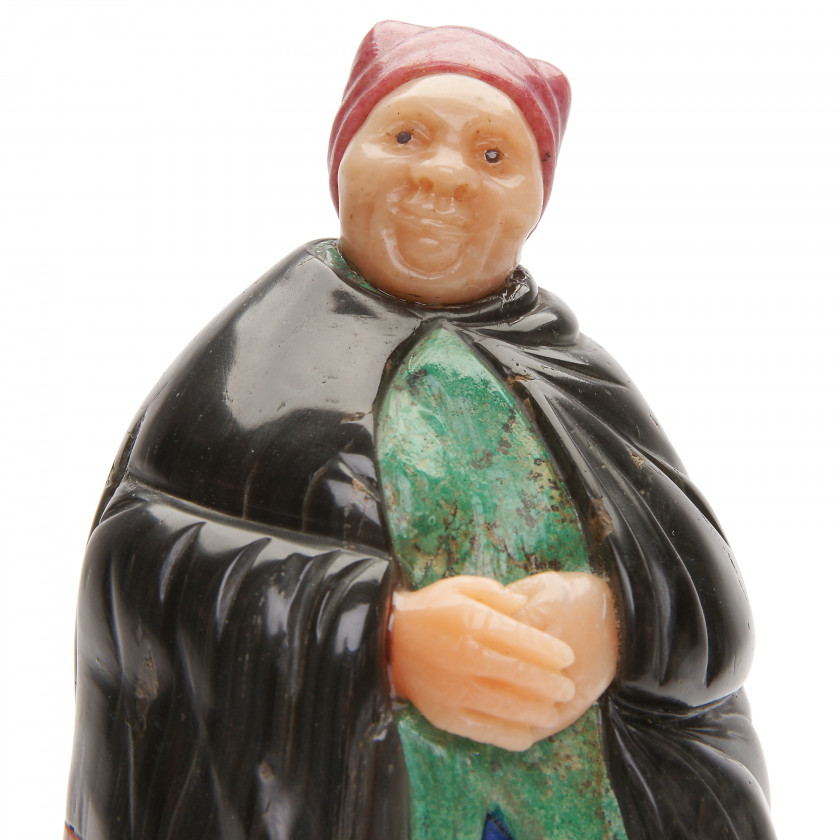 "Carved stone figure ""Old woman"""