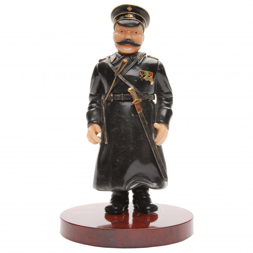 "Carved stone figure ""Сity policeman"""