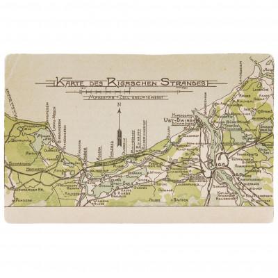 "Postcard ""Riga seaside map"""