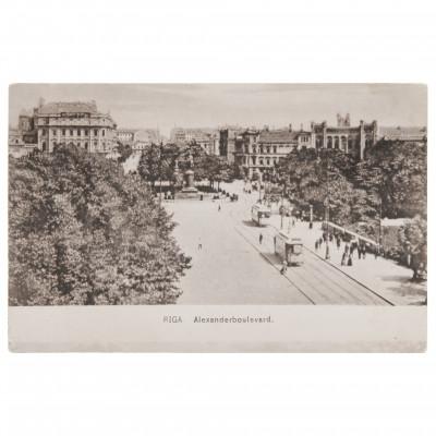 "Postcard ""Riga. Alexander's Boulevard"""