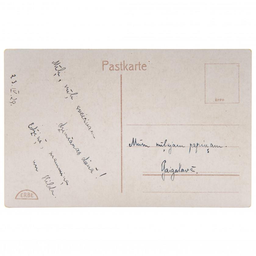 "Postcard ""Views of Latvia 203. Gauja ""Steep banks"" near Valmiera."""