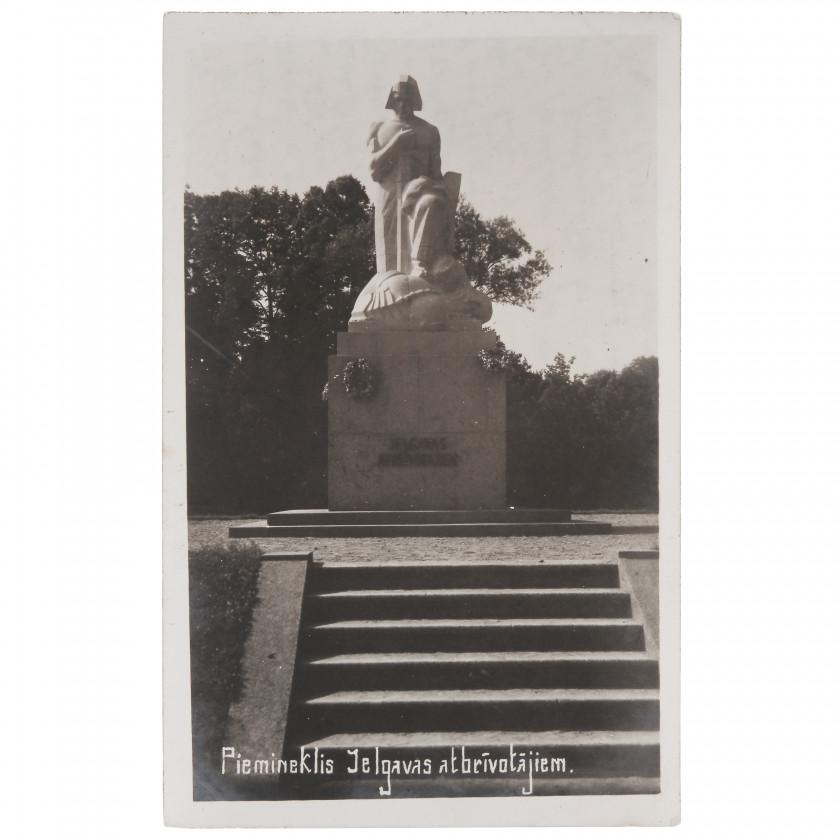 """Fotogrāfija """"Piemineklis Jelgavas atbrīvotājiem"""""""