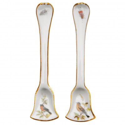 A pair of porcelain spoons