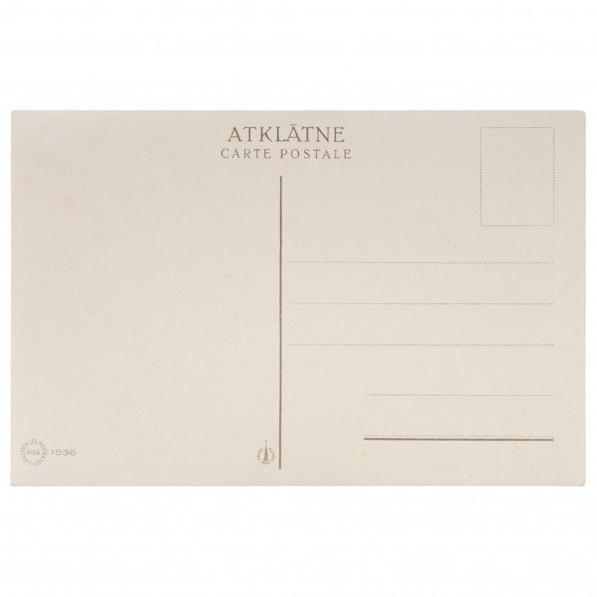 "Postcard ""Drawing of A. Apsītis"""