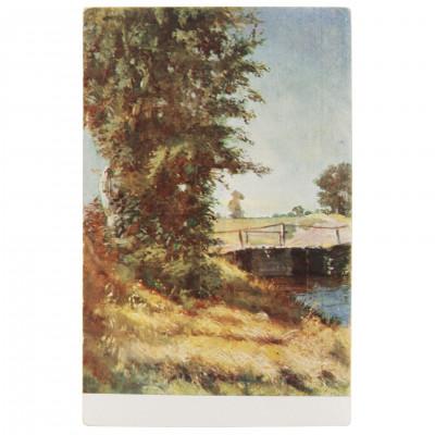 """Postcard """"J. Rozentāls - Bridge"""""""