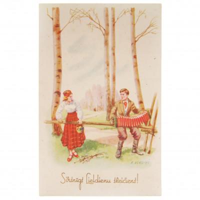 "Postcard ""A heartfelt Easter greeting!"""