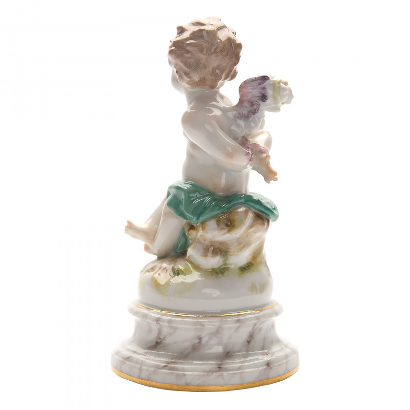 """Porcelain figure """"Cupid with bound hands and wings"""""""