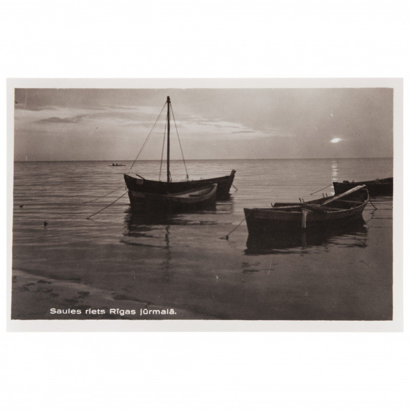 "Photography ""Sunset on the coast of the Riga seaside"""