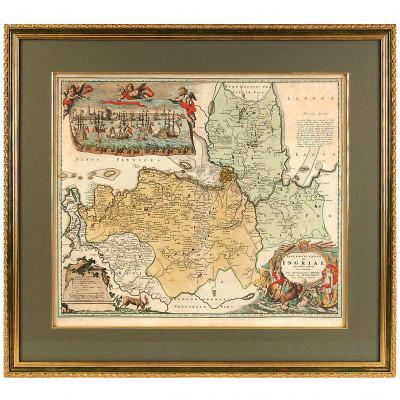 Map - engraving