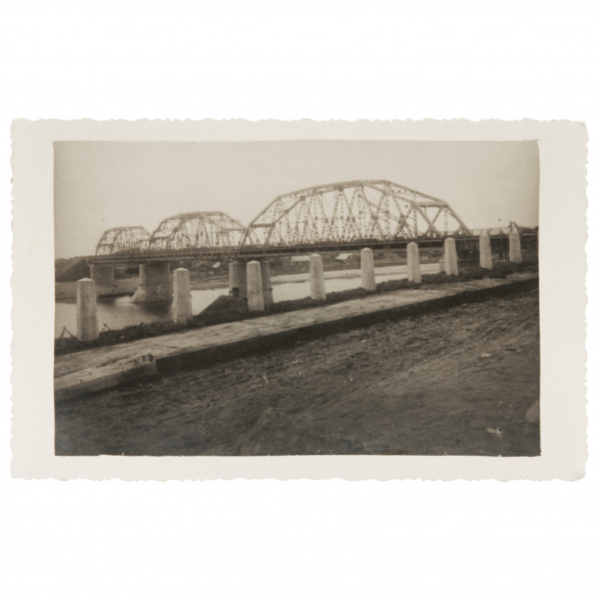 "Photography ""Jekabpils-Krustpils railway bridge over the Daugava"""