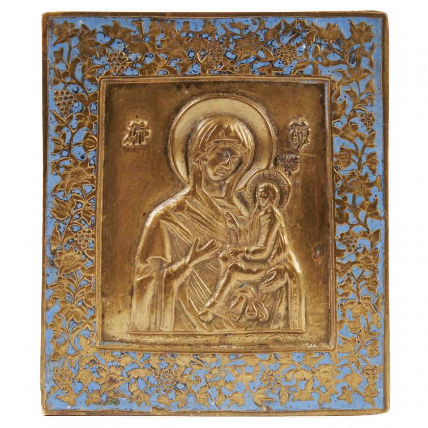 "Icon ""The Virgin of Tikhvin"""