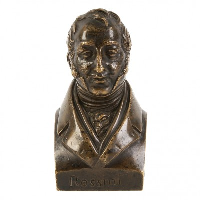 """A bronze bust of """"Rossini"""""""