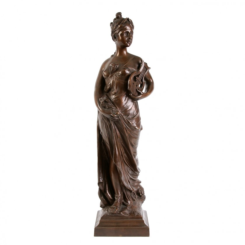 "Bronze figure ""Sapho"""