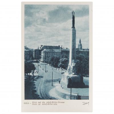 """Atklātne """"Riga. Skats uz Adolf-Hitler-ielu"""""""