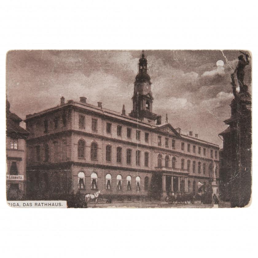 "Postcard ""Riga. The town hall"""