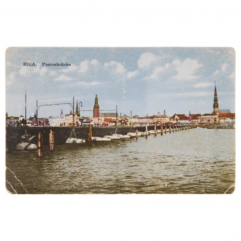 "Postcard ""Riga. Pontoon Bridge"""