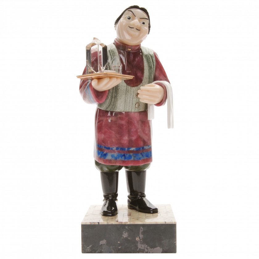 "Carved stone figure ""Waiter"""