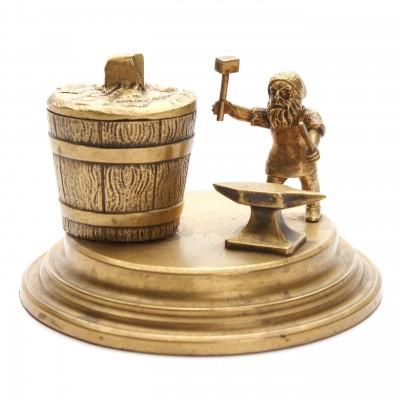 "Bronze inkwell ""Gnome"""