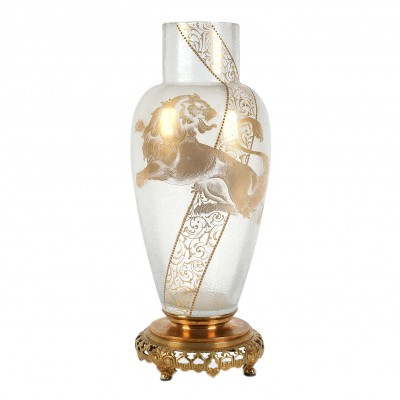 Large decorative glass vase