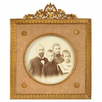 Bronzas foto rāmis