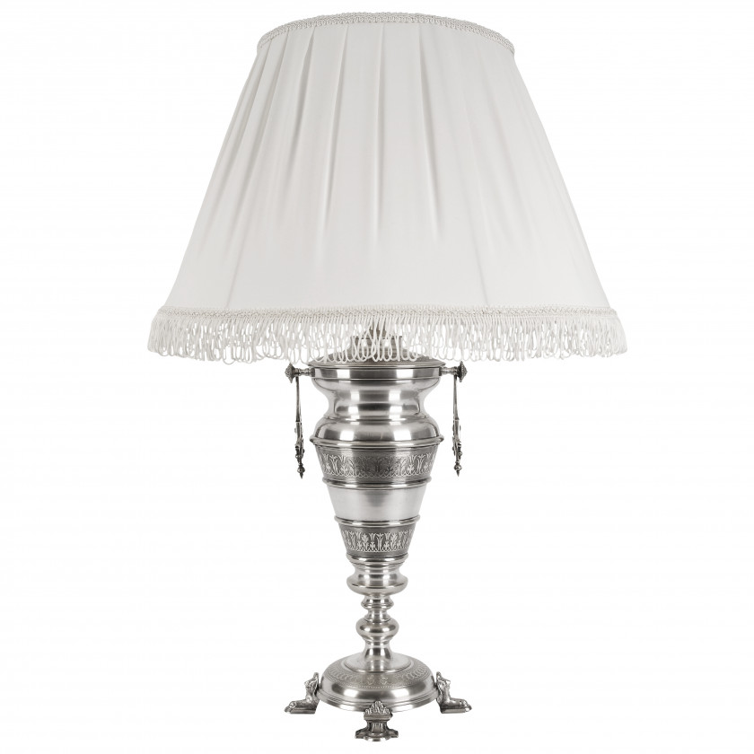 Silver plated table lamp
