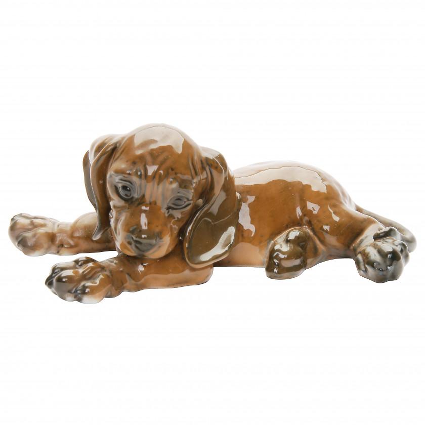 "Porcelain figure ""Dachshund puppy"""