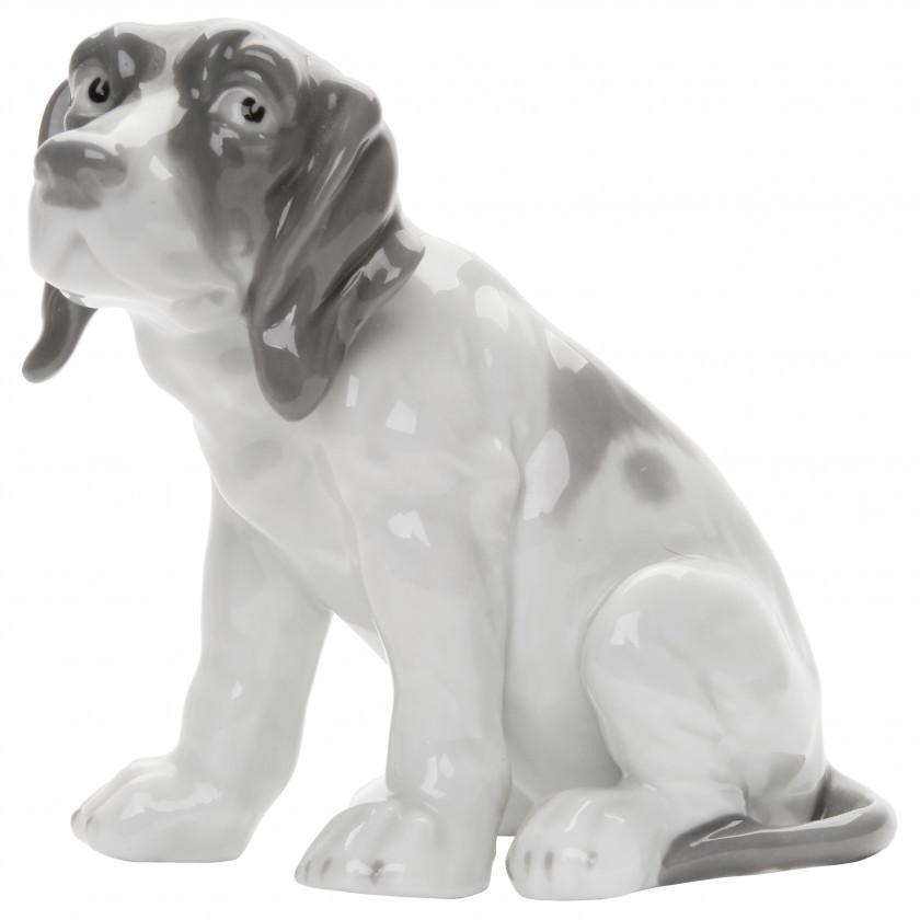 "Porcelain figure ""Pointer's puppy"""