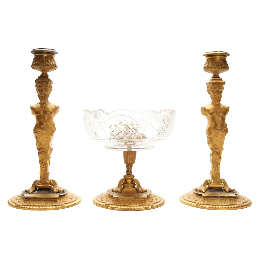 Bronze set of 3 items