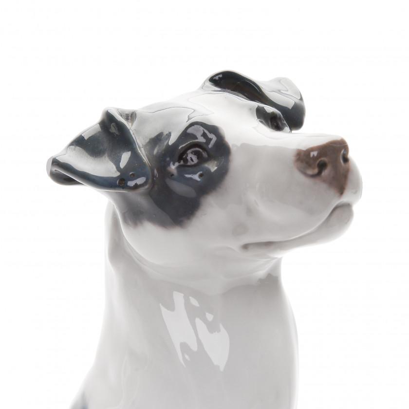 "Porcelain figure ""Jack Russell Terrier sitting"""