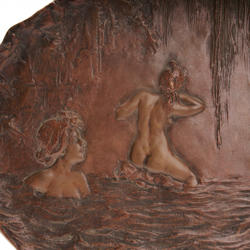 Bronze decorative mural