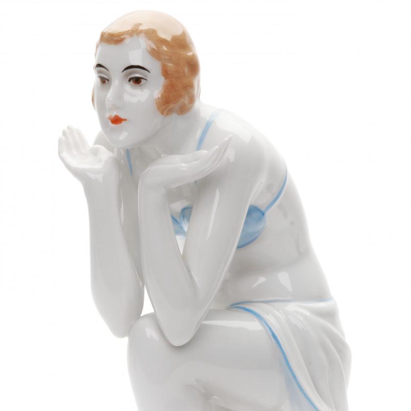 """Porcelain figure """"Dancer Anita Berber"""""""