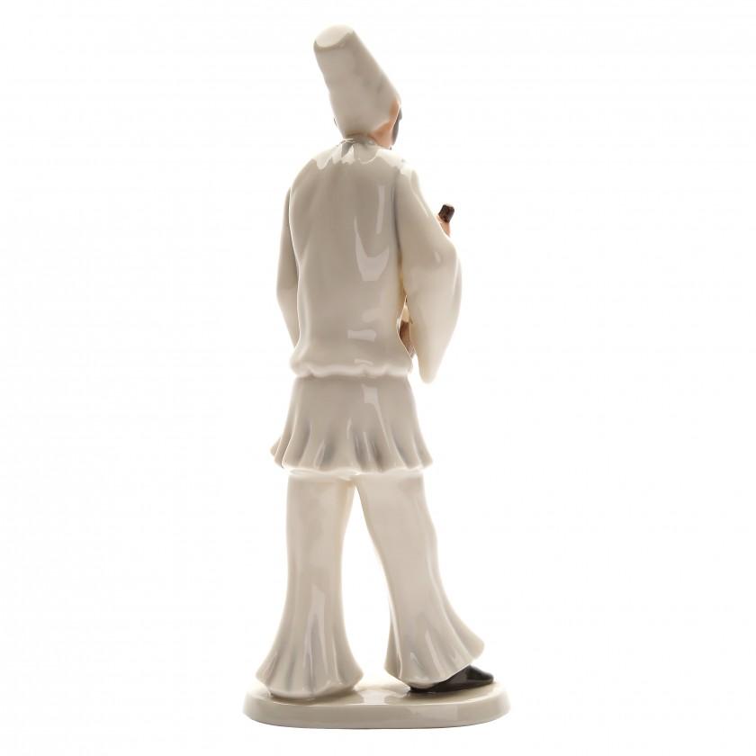 """Porcelain figure """"Pulcinella"""""""