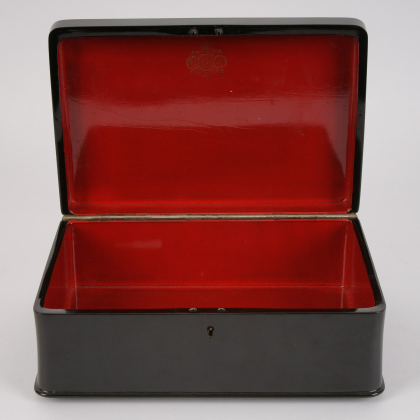 "Lacquer box ""The troika race"""