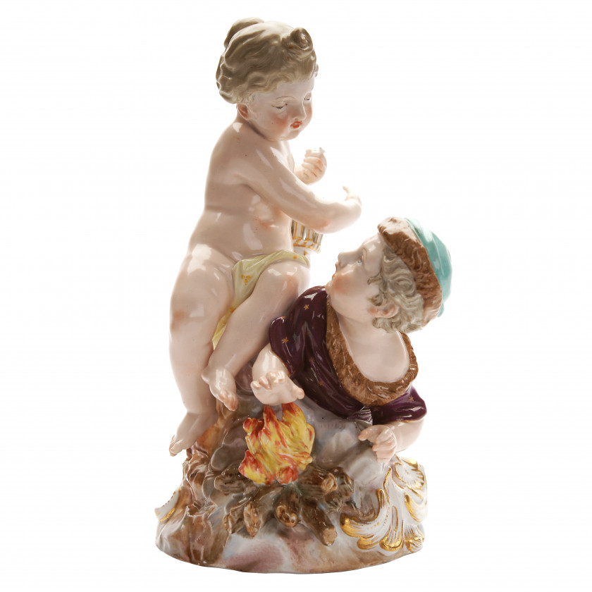 """Porcelain figure """"Allegory - Spring and Winter"""""""