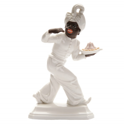 "Porcelain figure ""Moor with dessert bowl"""