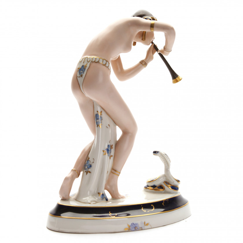 "Porcelain figure ""Dancer with a snake"""