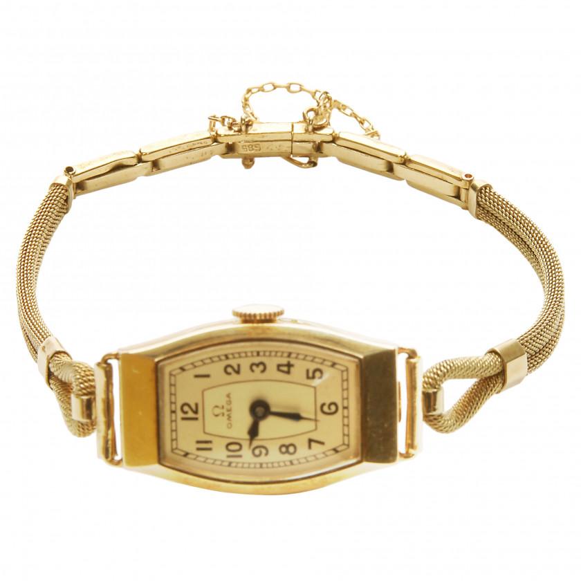 "Gold women's watch ""Omega"""