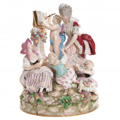 "Porcelain figure ""School of love"""