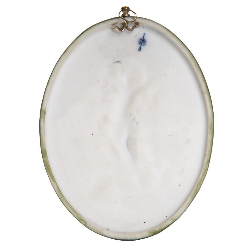 Porcelain medallion