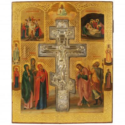 "Ikona ""Kristus Krustā Sišana"""