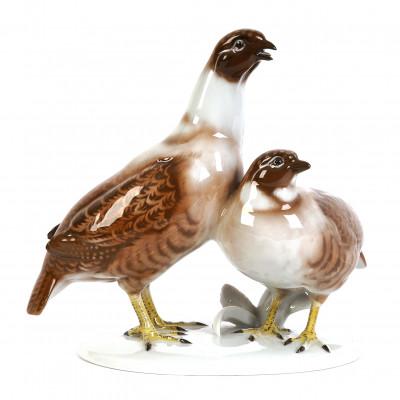 """Porcelain figure """"Partridges"""""""